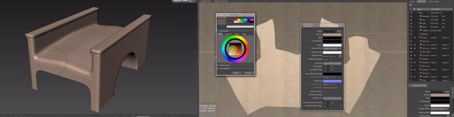 Modelowanie detali mebli w oprogramowaniu Mudbox